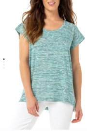Liverpool Oversized Dolman Knit Top - Front cropped