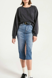 z supply Oversized Fleece Pullover - Front cropped