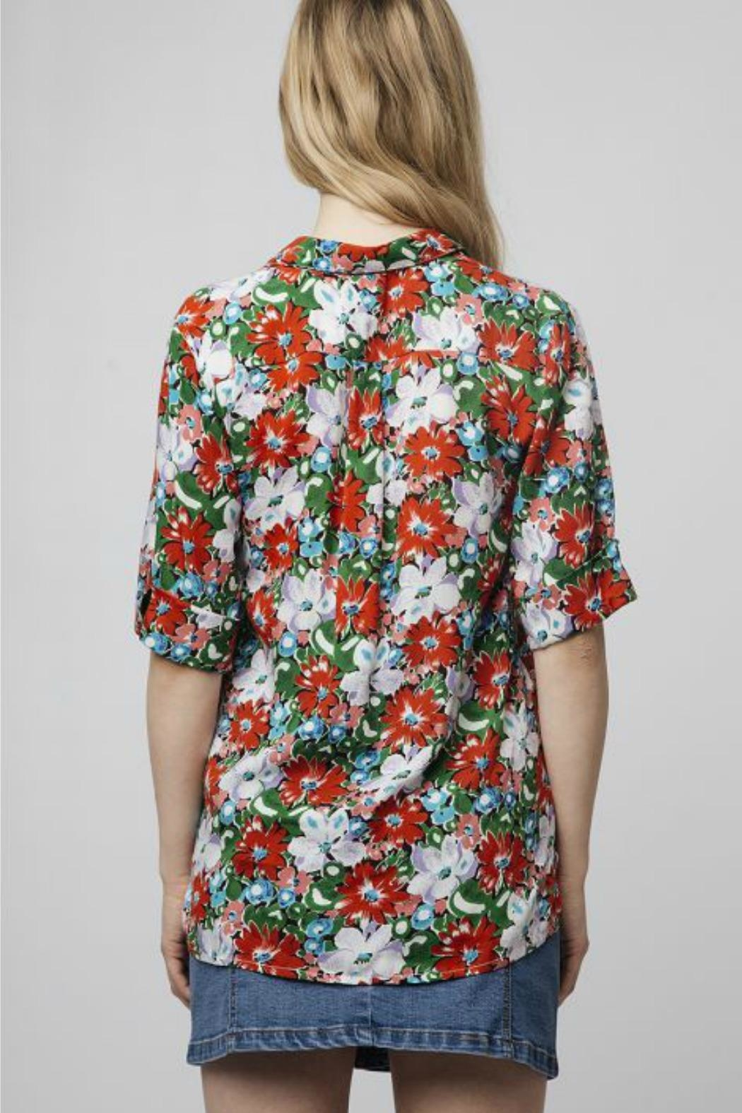Compania Fantastica Oversized Floral Blouse - Front Full Image