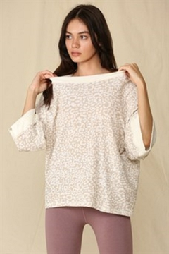 By Together  Oversized French Terry Top - Product List Image