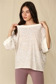 By Together  Oversized French Terry Top - Product Mini Image