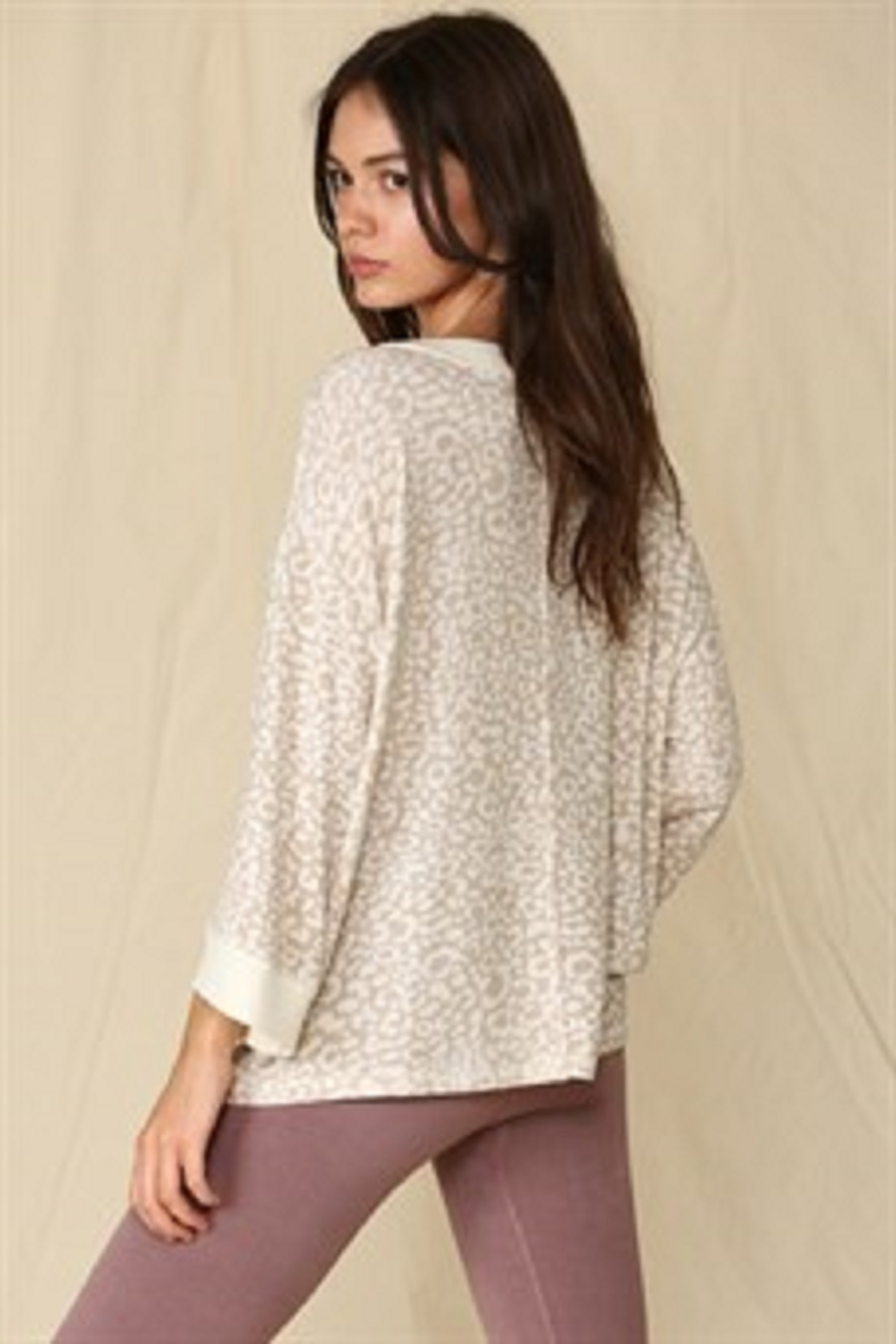 By Together  Oversized French Terry Top - Front Full Image