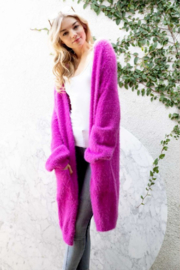 Olivaceous  Oversized Fuzzy Cardigan - Product Mini Image