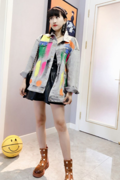 Shoptiques Product: Oversized Graffiti Jacket