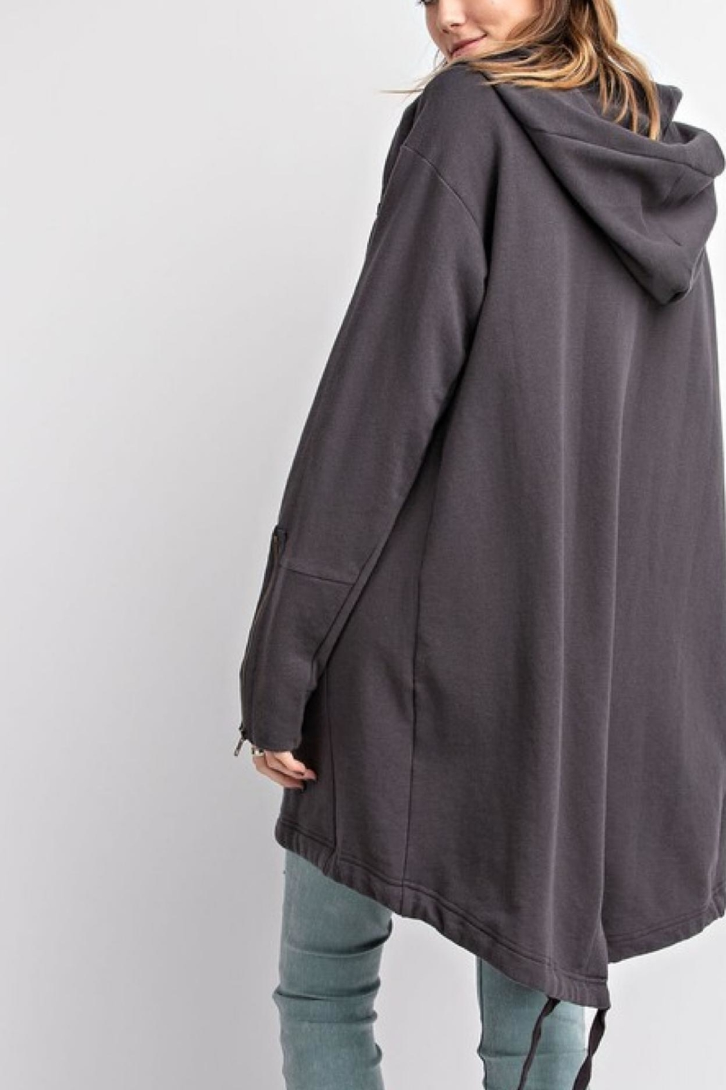 easel Oversized Hoodie - Side Cropped Image