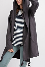 easel Oversized Hoodie - Front full body