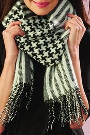 Charlie Paige Oversized Houndstooth Scarf - Product Mini Image
