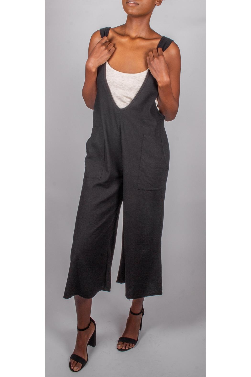 Final Touch Oversized Jumpsuit Black - Front Full Image