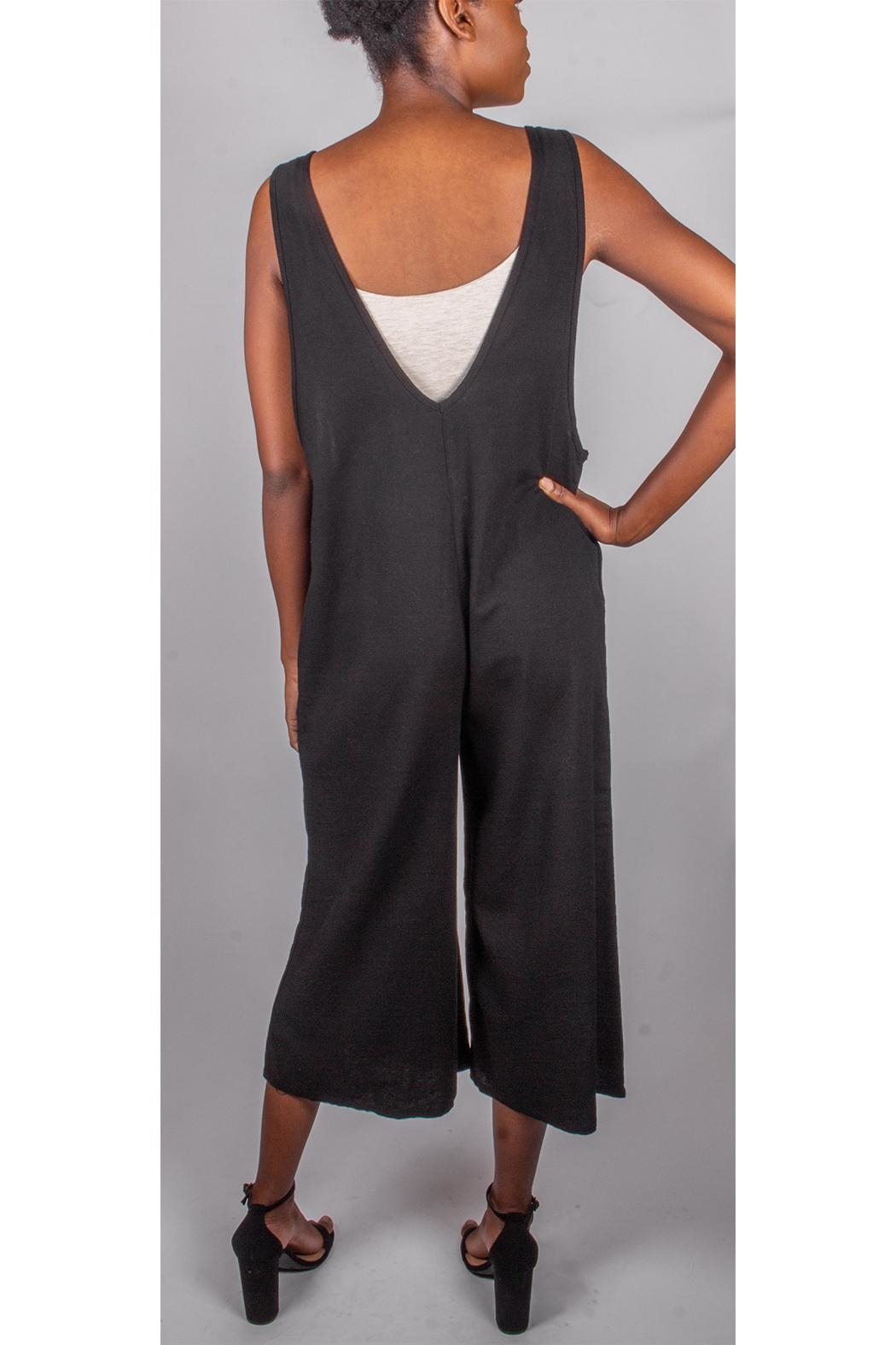 Final Touch Oversized Jumpsuit Black - Side Cropped Image