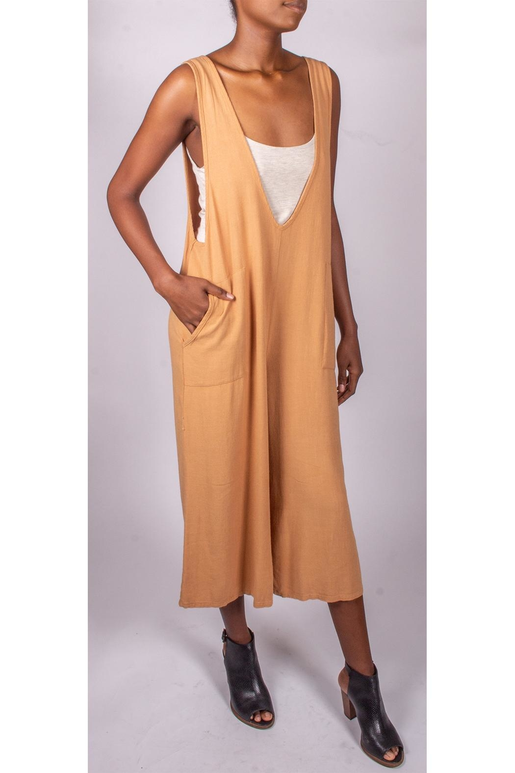 Final Touch Oversized Jumpsuit Camel - Front Full Image