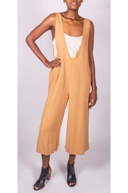 Final Touch Oversized Jumpsuit Camel - Front cropped