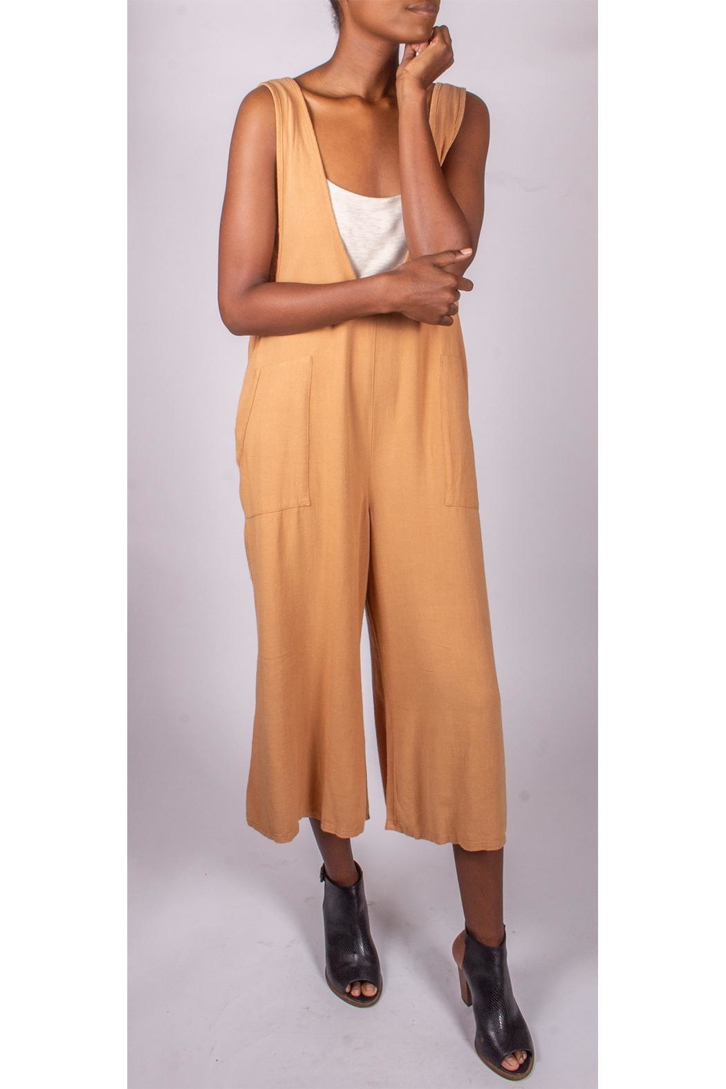 Final Touch Oversized Jumpsuit Camel - Side Cropped Image