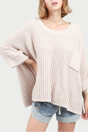 POL Oversized Knit Poncho - Front cropped