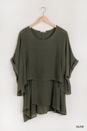 Umgee USA Oversized Layered Tunic Top - Product Mini Image