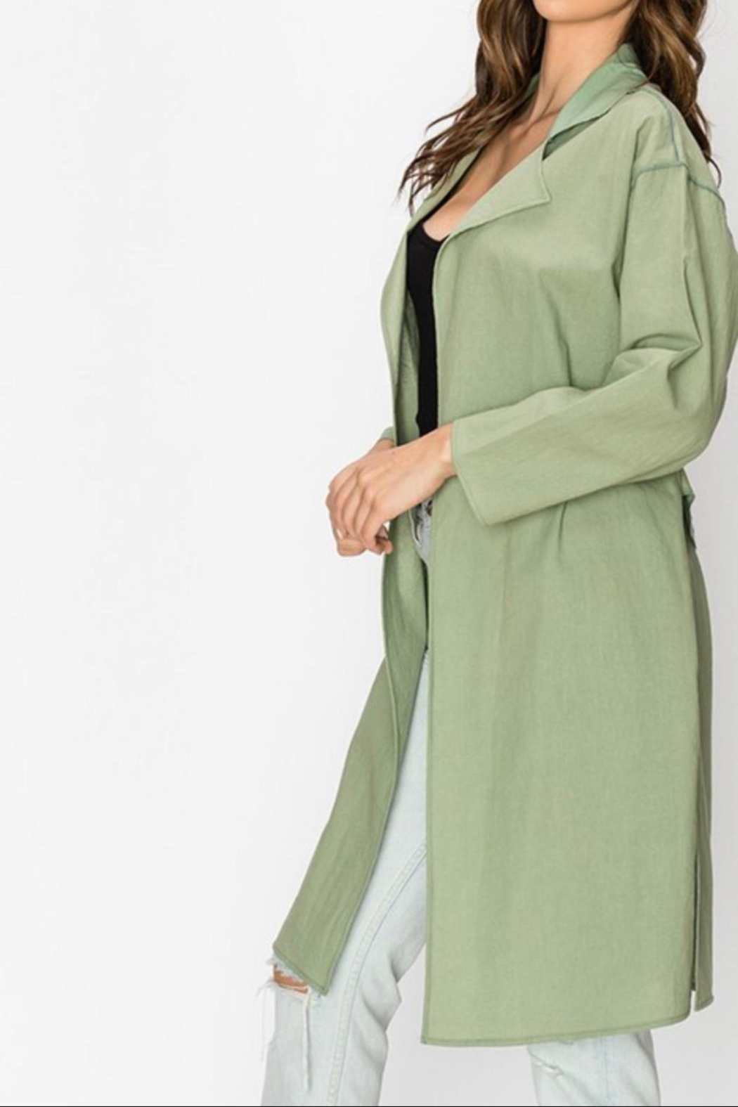 Favlux Oversized Lightweight Coat - Side Cropped Image