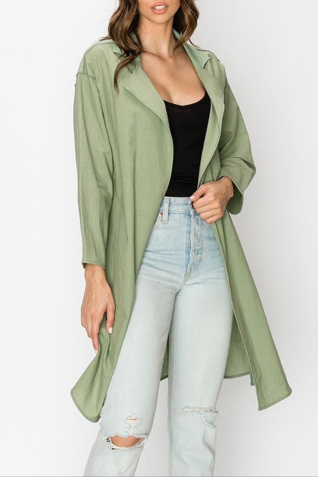 Favlux Oversized Lightweight Coat - Front Cropped Image