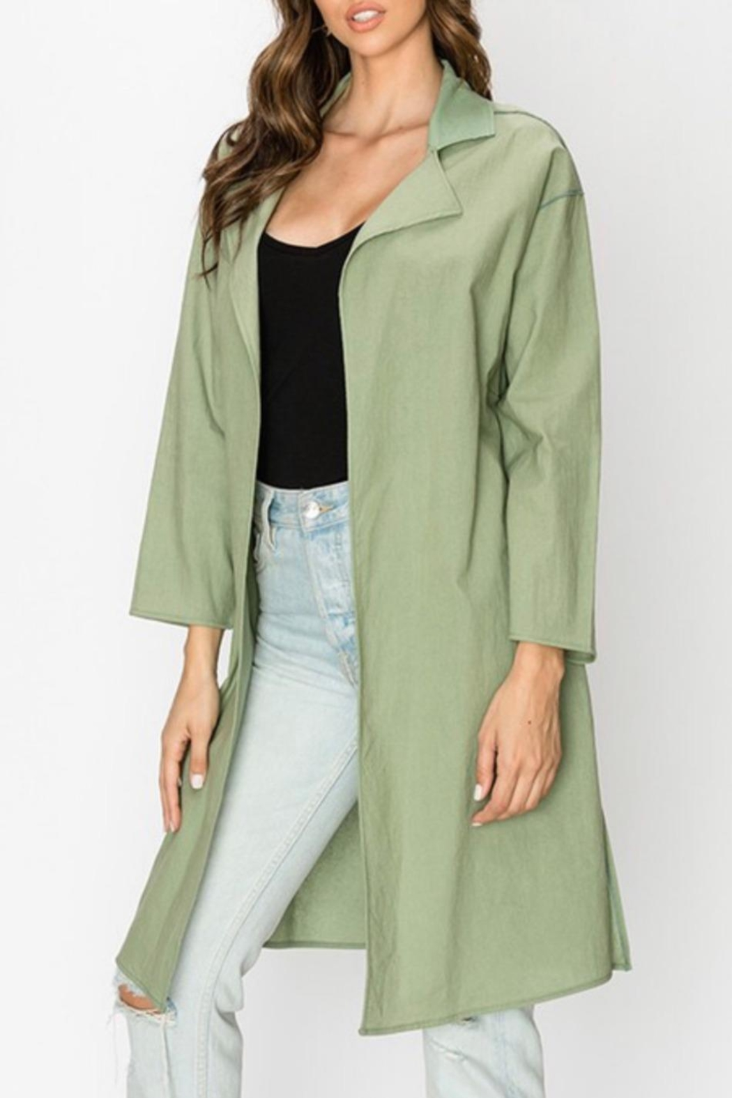 Favlux Oversized Lightweight Coat - Front Full Image
