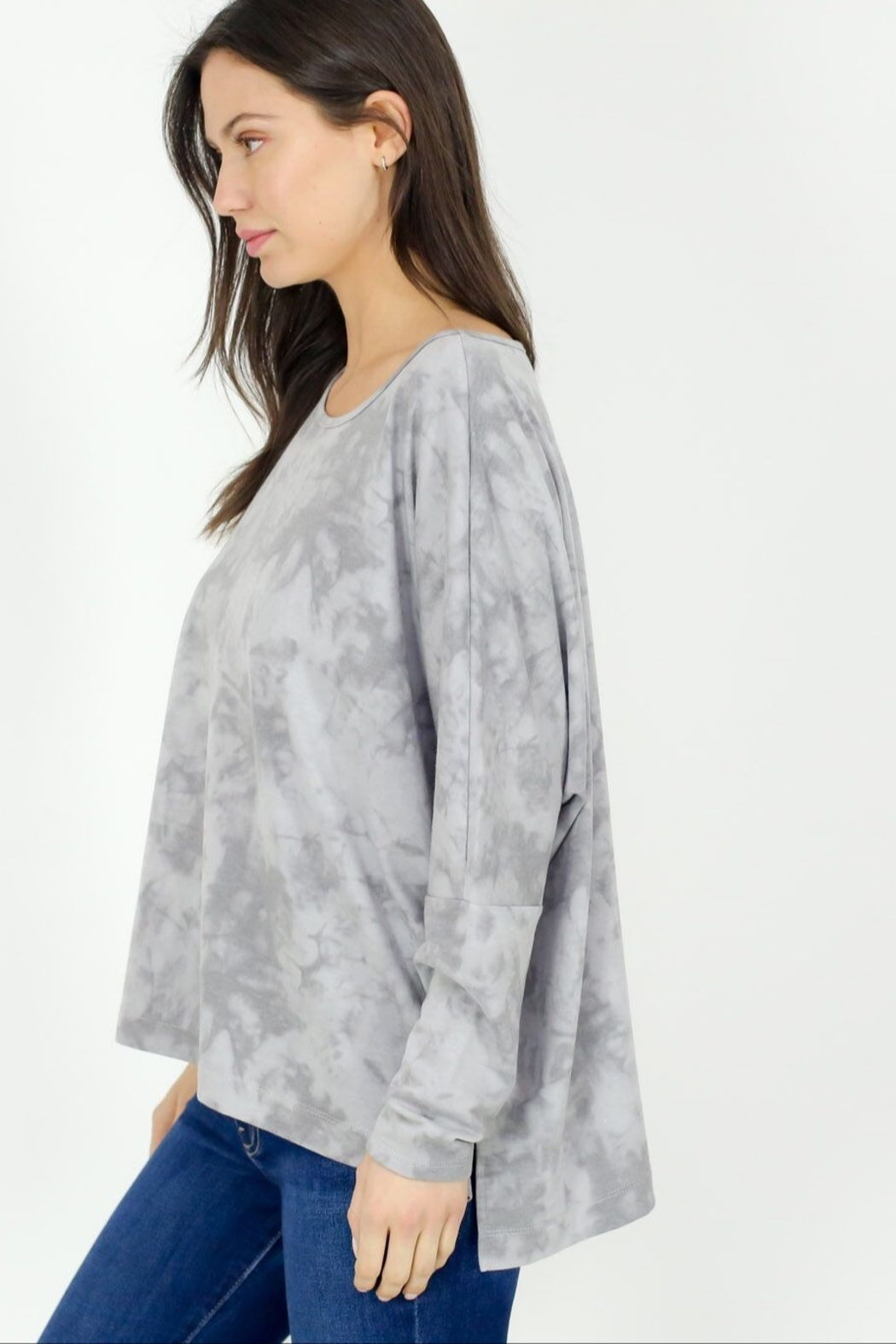 Six Fifty Oversized Marble Wash Dolman - Front Full Image