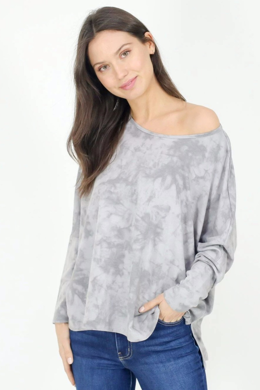 Six Fifty Oversized Marble Wash Dolman - Main Image