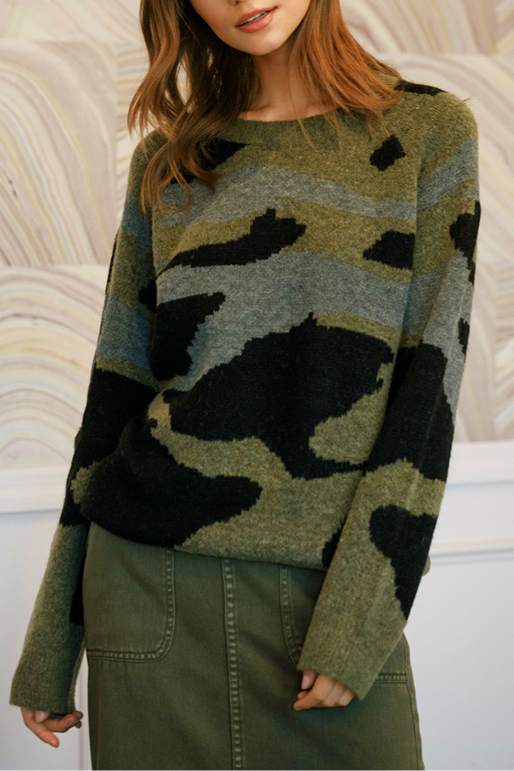 Mustard Seed  Oversized military sweater - Main Image