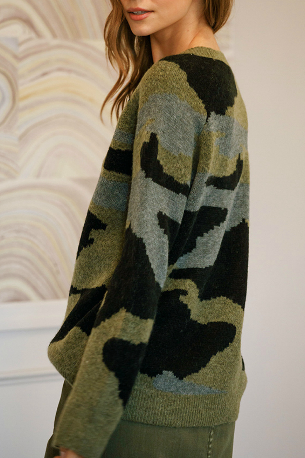 Mustard Seed  Oversized military sweater - Front Full Image