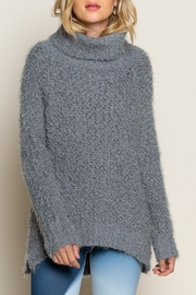 POL  Oversized Mohair Turtleneck Sweater - Front cropped