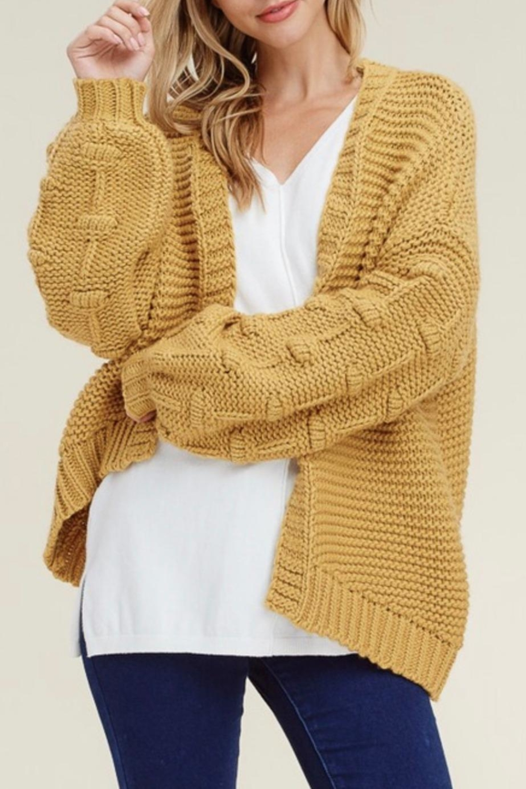 45e10c0aafb Staccato Oversized Mustard Cardigan from Ohio by The Co-Op on ...