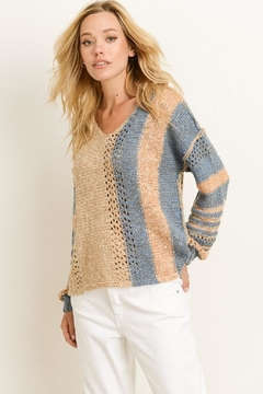 Shoptiques Product: Oversized Open-Knit Sweater