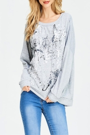 Miss Darlin Oversized Painted Sweatshirt - Product Mini Image