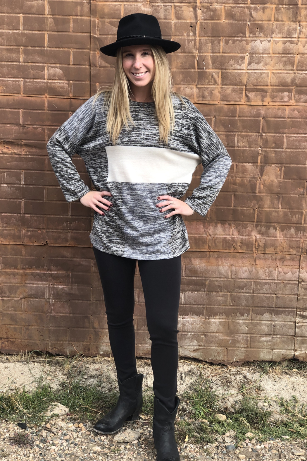 Papillon Oversized Patch Sweater - Front Full Image
