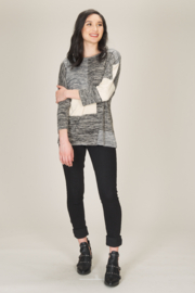 Papillon Oversized Patch Sweater - Front cropped