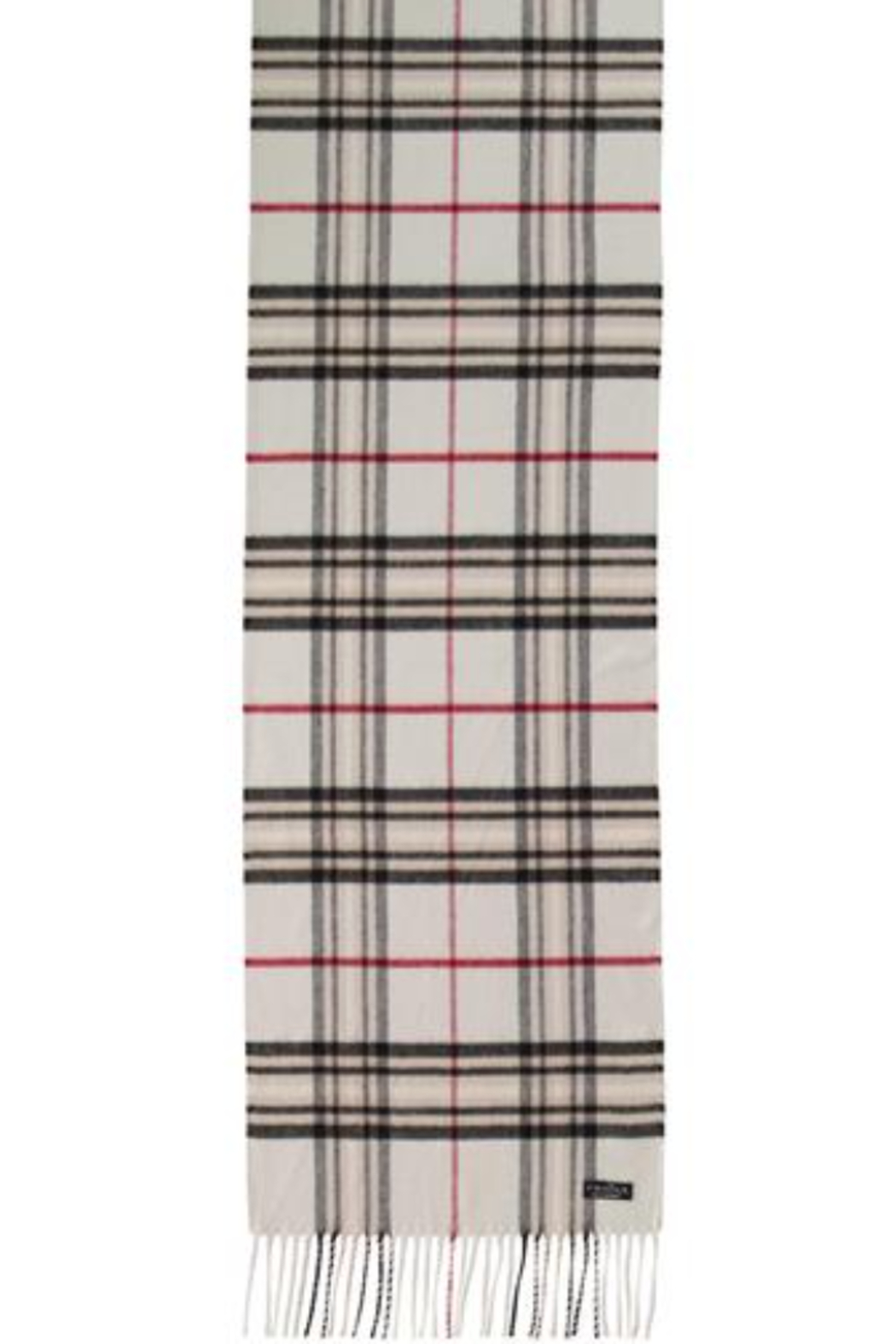 V Fraas Oversized plaid cashmink scarf - Front Full Image