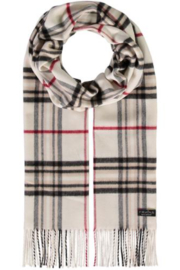 V Fraas Oversized plaid cashmink scarf - Front cropped