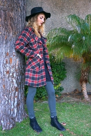 Minx Oversized Plaid Jacket - Product Mini Image