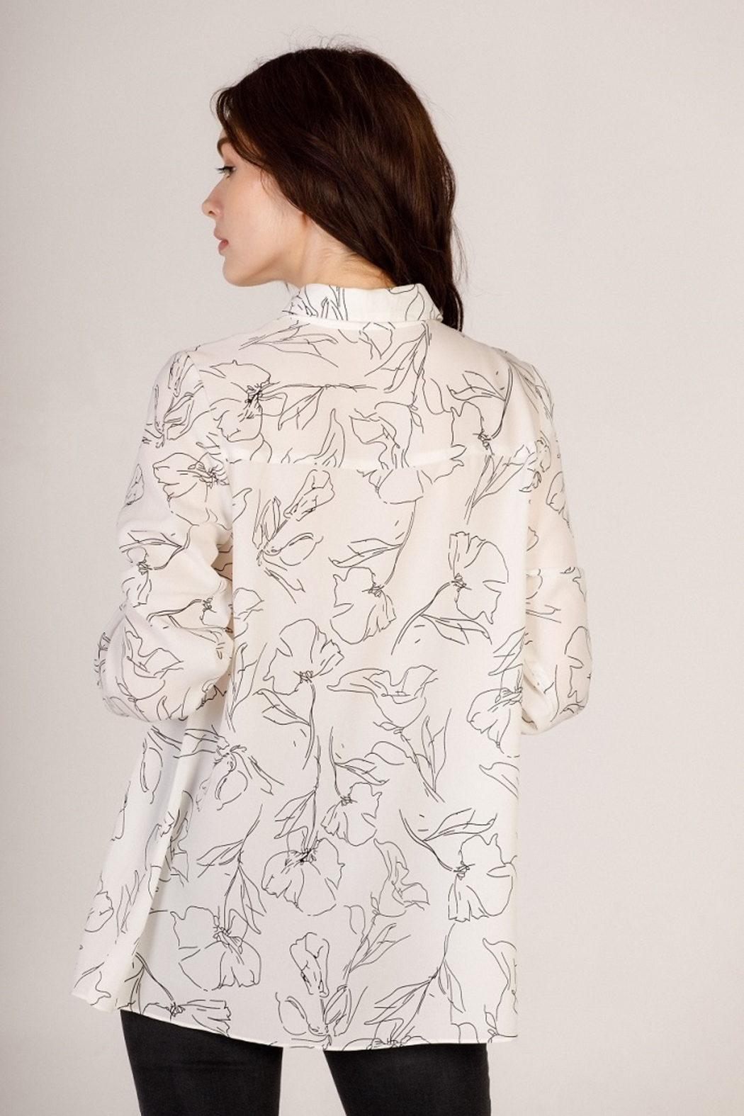 Moodie Abstract Printed Blouse - Front Full Image