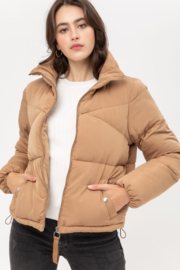 Love Tree  Oversized Puffer Jacket - Front cropped