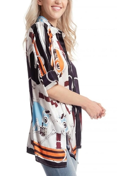 Gracia Oversized Satin/print Shirt - Alternate List Image