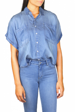 Tractr Oversized Short Sleeve Button Up - Product List Image