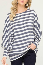 She + Sky Oversized Striped Pullover - Product Mini Image
