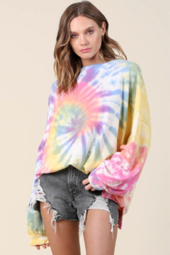 Blue Buttercup Oversized Tie Dye Pullover - Product List Image