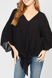 Entro Oversized Tie-Front Top - Product Mini Image