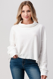 Hashttag Oversized Turtle Neck Crop - Product Mini Image