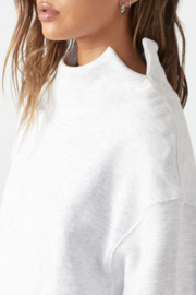 Joah Brown Oversized Turtleneck Sweatshirt - Front full body