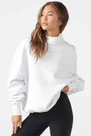 Joah Brown Oversized Turtleneck Sweatshirt - Back cropped