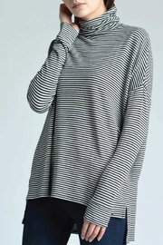 Press Oversized Turtleneck Top - Product Mini Image