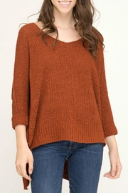 She + Sky Oversized v-Neck Sweater - Product Mini Image