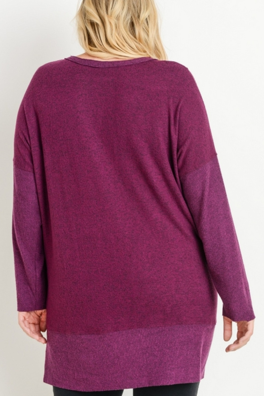 JODIFIL OVERSIZED VNECK SWEATER - Front Full Image