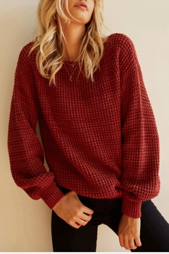 Somedays Lovin Oversized Waffle Knit - Alternate List Image