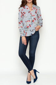 OVI Butterfly Striped Blouse - Side cropped