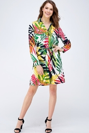 OVI Floral Shirt Dress - Front full body